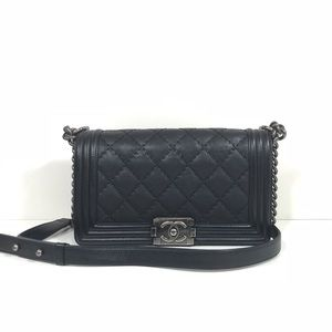 Chanel old medium boy leboy calfskin